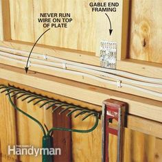 how to wire a garage unfinished electrical code garage lighting rh pinterest com wiring up your garage wiring up your garage