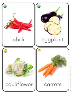 Fruit + Vegetable Flashcards – you clever monkey Food Flashcards, Flashcards For Kids, List Of Vegetables, Fruits And Veggies, Fruits Basket, Different Fruits, Different Vegetables, Preschool Learning Activities, Indoor Activities For Kids