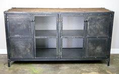 Vintage Industrial Media Console / Buffet - from Combine 9 Design - Combine9.com
