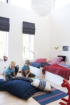 Cute boys bedroom- for the twins