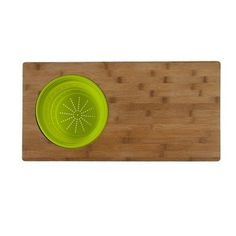 Over The Sink 2-in-1 Cutting Board in One Tone by Core Bamboo. $32.00. SBOVSK199 Features: -Cutting board.-Rectangular shape.-Clean with warm soapy water or a damp cloth.-Food safe and FDA approved. Construction: -100pct organically grown bamboo construction. Color/Finish: -One tone color. Dimensions: -Overall dimensions: 0.8'' H x 12'' W x 24'' D.