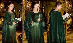 Rivendell erudite test (green velvet dress) I by ArwendeLuhtiene