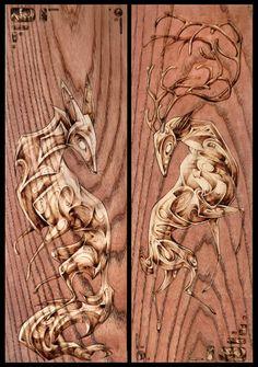 :: Crafty :: Wood :: Wood : Melanie Steinway Illustration