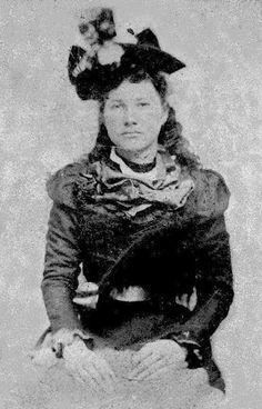 Mary Ann Berry (the daughter of Elizabeth Tullis Berry) at Hog Mountain, Georgia - Cherokee - circa 1890.
