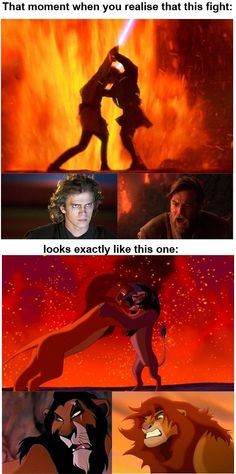 Star Wars VS The Lion King.