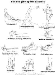 shin stretches | ... 2003.1: Shin Pain (Shin Splints) Exercises, Part I: Illustration