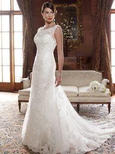 Casablanca Bridal Lace Back Wedding Dress Lace Wedding Dress, Applique Wedding Dress, Fall Wedding Dresses, Colored Wedding Dresses, Cheap Wedding Dress, Bridal Lace, Wedding Dress Styles, Bridal Dresses, Wedding Gowns