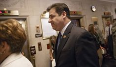 Rep. Raul Labrador, R-Idaho, arrives with fellow House Republicans to cast ballots for new party leaders in the aftermath of Majority Leader Eric Cantor's stunning primary defeat earlier this month, Thursday, June 19, 2014, on Capitol Hill in Washington.. (AP Photo/J. Scott Applewhite)