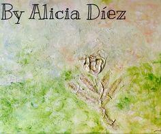 En una semana interacción con la Artista Alicia Díez!! Me encanta esta pintura ella!!!