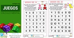 Los juegos de mesa, especialmente los que requieren el uso de dados, desarrollan en el niño una rápida capacidad de cálculo mental sin a penas
