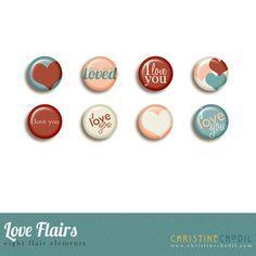 Quality DigiScrap Freebies: Love Flairs freebie from Christing Chodil
