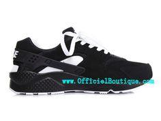 83cc393bdde Chaussure Nike Sportswear Pas Cher Pour Homme Nike Air Huarache Noir Blanc  318429-008