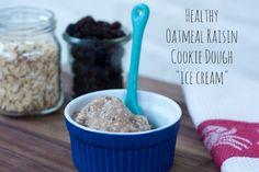 Healthy oatmeal raisin cookie dough ice cream
