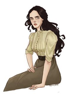 Miss Ives by Eirini Skou art Eva Green Penny Dreadful, Character Art, Character Design, Victorian Books, Crimson Peak, Human Art, Fantasy Illustration, Dungeons And Dragons, Beauty And The Beast
