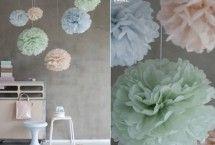 Pom Poms | mooie kleurrijke pastelkleurige pompoms
