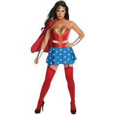 Wonder Woman Sexy Costume ($63) ❤ liked on Polyvore featuring costumes, halloween costumes, multicolor, womens halloween costumes, womens costumes, sexy costumes, sexy halloween costumes and women super hero costumes