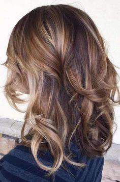 brown+and+caramel+balayage+hair