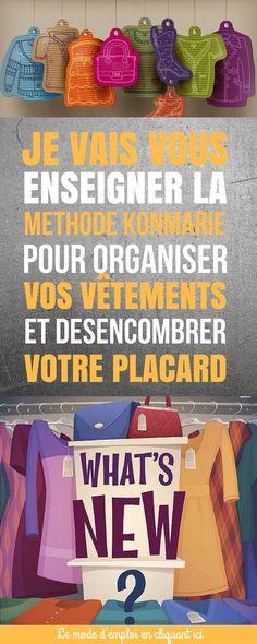 Marie Kondo est un monstre (au sens positif). Son livre, la magie du rangement, détaille habilement sa méthode de rangement, les façons dont elle l'a découvert, et pourquoi toutes les autres façons de ranger – ou les arguments sur pourquoi vous ne pourrez pas ranger comme KonMari – sont fausses. Vous allez découvrir comment organiser vos vêtements. #astuces #rangement #trucs #trucsetastuces #organisation #vêtements Journal Organization, Diy Organisation, Organising, Miracle Morning, Flylady, Marie Kondo, Helpful Hints, Projects To Try, Sweet Home