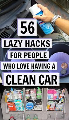 car organization ideas These 56 lazy car cleaning hacks are THE BEST! Im so glad I found these GREAT great cleaning and organization tips! Now I have great ways to keep my car clean and tidy! Diy Car Cleaning, Deep Cleaning Tips, House Cleaning Tips, Diy Cleaning Products, Detail Car Cleaning, Car Interior Cleaning, Cool Diy, Diy Auto, Clean Your Car