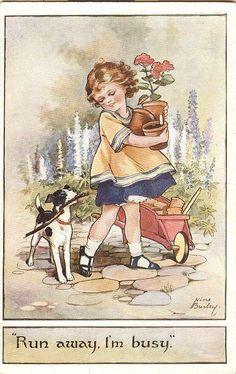 Postcards British Publisher A. Vivian Mansell & Co Vintage Book Art, Vintage Drawing, Vintage Cards, Vintage Postcards, Vintage Prints, Vintage Pictures, Vintage Images, Retro Images, Vintage Photographs