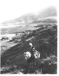 View of Palestine, 'Askar village near Nablus by Palestinian photographer Khalil Raad ca. 1920.