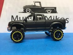 Lightning Cars, Custom Hot Wheels, Toyota Tundra, Black Flats, Hot Rods, Monster Trucks, Toys, Fun, Satin