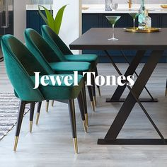 Discover the opulent and luxurious Jewel tones to create your own personalised living space. Diy Beauty Room Decor, Home Decor, Living Room Decor, Living Spaces, Three Season Room, Dining Table Chairs, Dining Room, Colorful Chairs, Jewel Tones