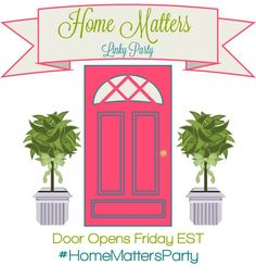 Just Craftify.!!: Home Matters Linky Party #68