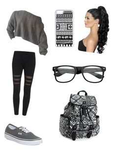 """Black, White andar Grey."" by miazinhaa on Polyvore featuring beauty, Vans, Aéropostale and CellPowerCases"
