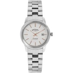 Rotary Women's LB02735/06 Women's Avenger Bracelet Strap Watch, Silver ($210) ❤ liked on Polyvore featuring jewelry, watches, silver jewelry, silver jewellery, rotary watches, white dial watches and silver watches