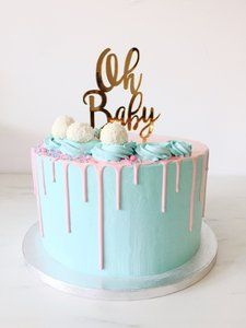 21 Cute And Fun Gender Reveal Cake Ideas With Images Baby