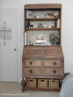 WITH A LITTLE IMAGINATION: Rustic Writing Desk Bureau