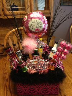 21st Birthday Basket 18th Present Ideas Creative