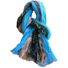 Pre-owned Louis Vuitton Scarf ($404) ❤ liked on Polyvore featuring accessories, scarves, multicolour, louis vuitton, cotton shawl, colorful scarves, louis vuitton scarves and multi colored scarves