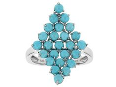 Southwest Style By Jtv(Tm) Round Cabochon Sleeping Beauty Turquoise Sterling Silver Ring