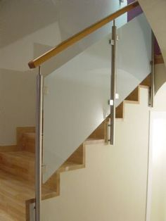 Installation of glass handrail in Baltimore Glass Stairs Design, Stair Railing Design, Balcony Railing, Railings, Glass Handrail, Glass Railing System, Modern Stairs, Gate Design, Living Room Decor