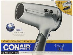 Conair 1875 Watt Ionic Technology Twist Folding Handle Hair Dryer >>> You can get more details by clicking on the image.