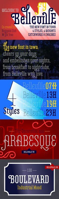 Belleville 13H FY Family-4 fonts. Display Fonts. $98.00