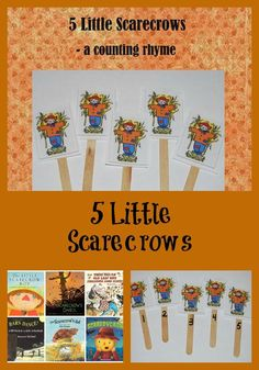 Come learn and play with a FUN Scarecrow Theme for Preschool! 5 Little Scarecrows is a counting rhyme to reinforce literacy and math. Free PowerPoint!