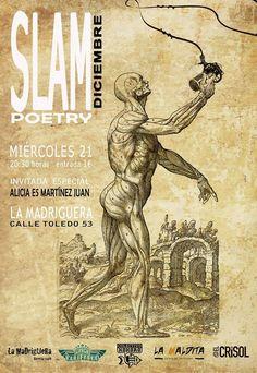 Cartel para Slam Poetry. Realizado por Paco Carrión y David Fernández (Blando).