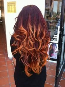 Red Ombre  Hair Colors Ideas i like the bottom color the most