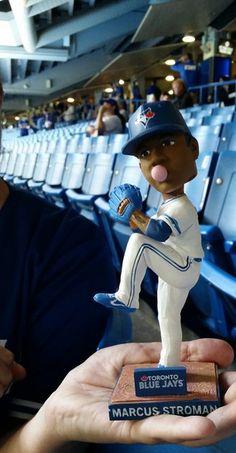 Marcus Stroman Bobblehead First fans Blue Jay Way, Go Blue, Baseball Stuff, Baseball Cards, Marcus Stroman, Cub Sport, Toronto Blue Jays, Raptors, Houston Astros