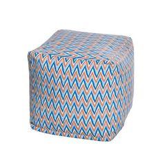 e76d1b2dcbbac Chevron Pattern Indoor Outdoor Beanbag Cube Contemporary Bean Bag Chairs
