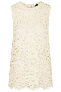 High Neck Lace Top