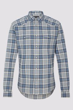 MEN Shirts BENT 307152 middle blue | DRYKORN