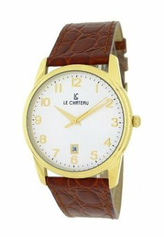 Le Chateau Men's 7076mg_wht Classica Watch Le Chateau. $54.99. 3 year warranty. Genuine leather band. Water-resistant to 99 feet (30 M). Date. Second-hand