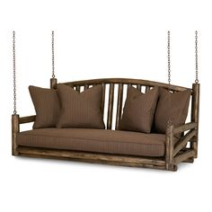 Rustic Porch Swing 1233 in Kahlua finish by La Lune Collection