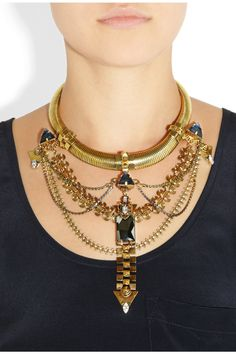 Erickson Beamon | Alchemy gold-plated Swarovski crystal necklace | NET-A-PORTER.COM
