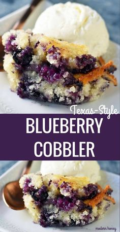 Texas-Style Blueberry Cobbler is a buttery, sweet dessert made with fresh blueberries, sugar, butter, milk and flour. The perfect summer dessert! Köstliche Desserts, Summer Desserts, Delicious Desserts, Summer Treats, Non Dairy Desserts, Health Desserts, Cupcakes, Cupcake Cakes, Bundt Cakes