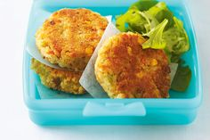 If you're packing a lunch box today, don't go past these fishcakes which include carrot, celery and corn to give them extra goodness, colour and crunch.